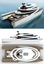 Superyacht Symphony design aft view 140